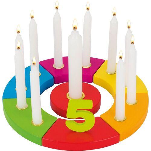 goki Kerzenständer »Geburtstagskranz Regenbogen«