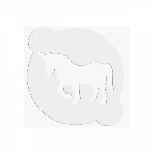 STÄDTER Backeinsatz »DEKOR-SCHABLONEN Einhorn ca. ø 15 cm Weiß«