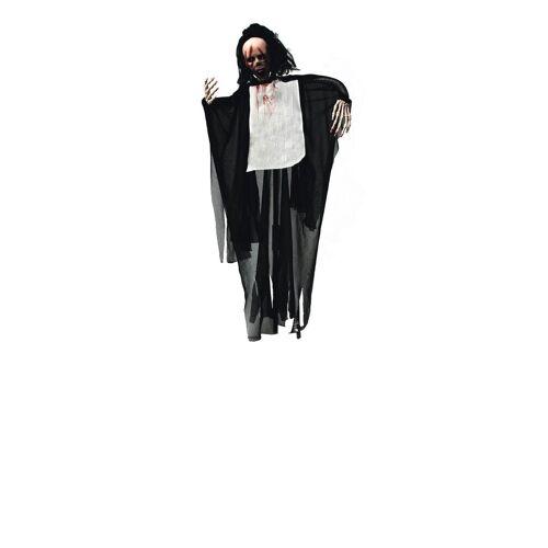EUROPALMS Dekofigur »Crazy Ghost - animierte Halloween Figur 95cm - Bewegung, blinkende Augen + Geräusche - zum Hängen«