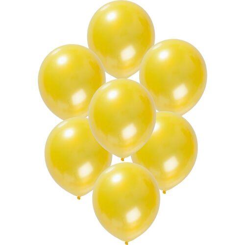 Folat Luftballon »Luftballons metallic rot 30 cm, 50 Stück«, gelb