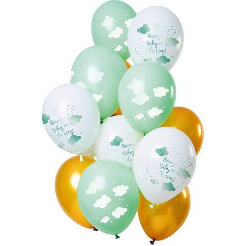 Folat Luftballon »Luftballons Baby Cloud Blue 30 cm, 12 Stück«, mint