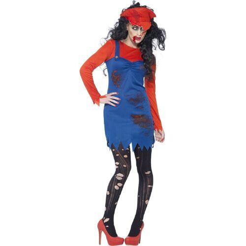 Smiffys Kostüm »Super Klempner Frau Zombie Kostüm«