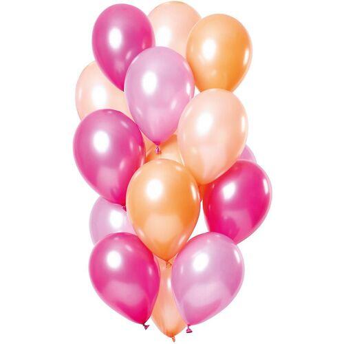 Folat Luftballon »Luftballons Lilamix 30 cm, 15 Stück«, rosa