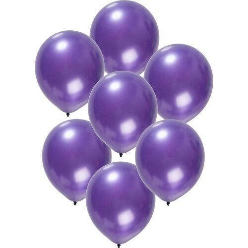 Folat Luftballon »Luftballons metallic rot 30 cm, 50 Stück«, lila