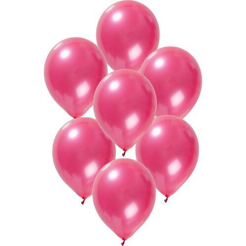Folat Luftballon »Luftballons metallic rot 30 cm, 50 Stück«, pink