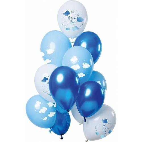 Folat Luftballon »Luftballons Baby Cloud Blue 30 cm, 12 Stück«, blau