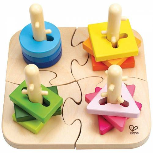 Hape Steckpuzzle »Kreatives Steckpuzzle 16tlg.«, Puzzleteile