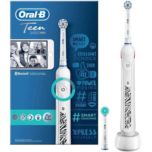 Oral B Elektrische Zahnbürste Teen White, Aufsteckbürsten: 2 St.