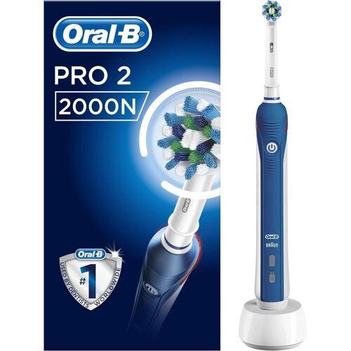 Oral B Elektrische Zahnbürste PRO 2 2000N, Aufsteckbürsten: 1 St.