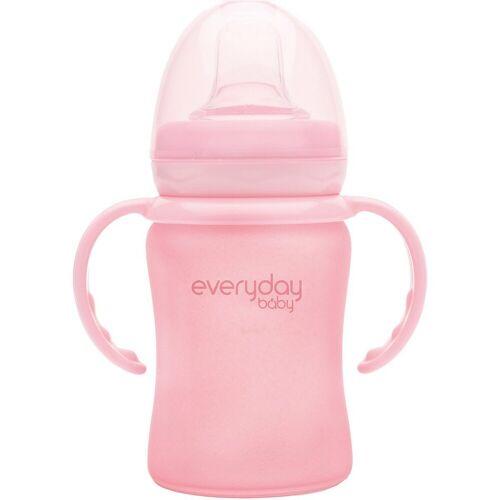 everyday baby Becher »Glas-Trinkbecher Straw Cup 150ml«, rosa