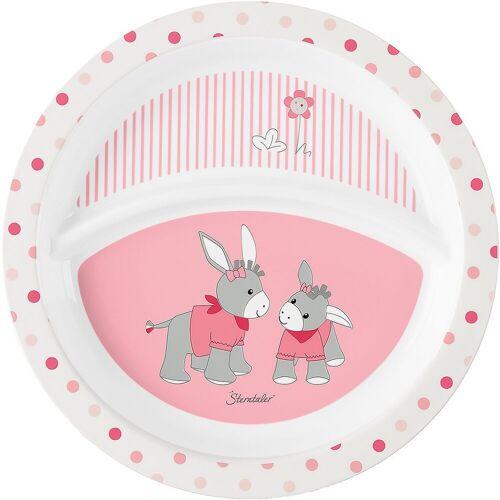 Sterntaler® Teller »Esslernteller Emmi Girl, rosa/weiß«