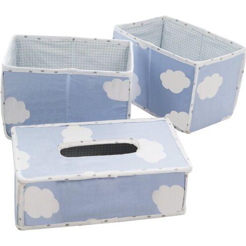 Roba® Pflegeorganizer Kleine Wolke, 3er- Set, blau