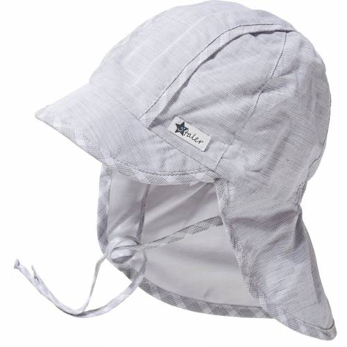 Sterntaler® Baby Schirmmuetze mit UV-Schutz 30 und Nackenschutz zum Bind, blau