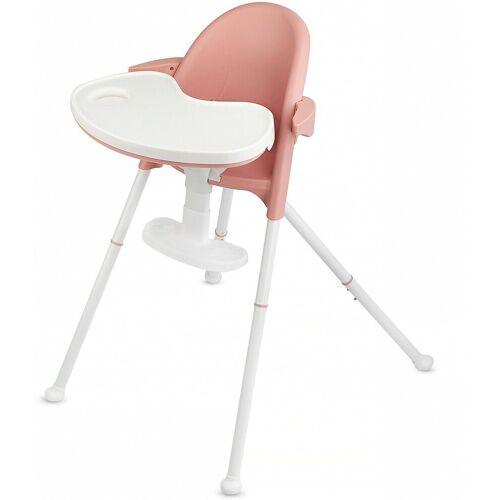 Kinderkraft Hochstuhl »Hochstuhl PINI, white«, pink
