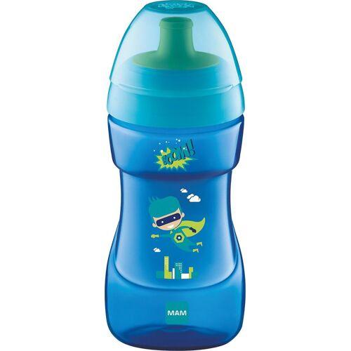 MAM Trinkflasche »Trinkflasche Sports Cup, PP, 330 ml, grün/gelb«, blau