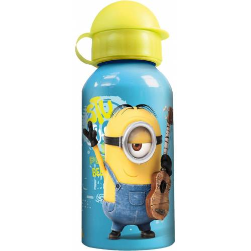 p:os Trinkflasche »Alu-Trinkflasche Lillebi. 400 ml«, blau/gelb