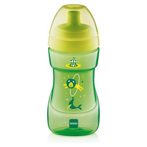 MAM Trinkflasche »Trinkflasche Sports Cup, PP, 330 ml, grün/gelb«, grün