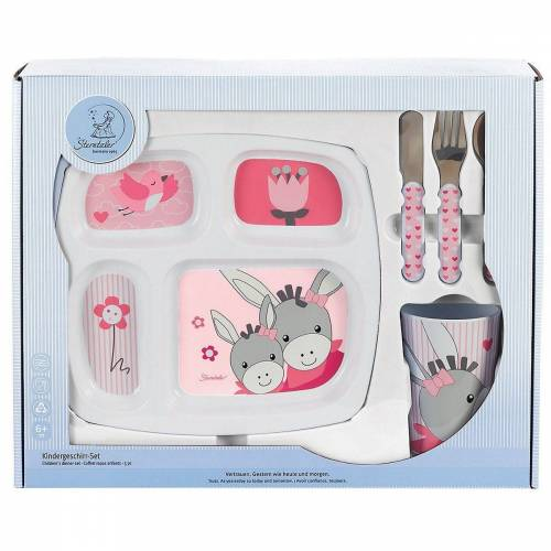 Sterntaler® Kindergeschirr-Set »Geschirr-Set, Emmi Girl, 3-tlg«, rosa/weiß