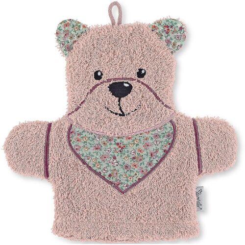Sterntaler® Waschlappen »Spiel-Waschhandschuh Hanno, grau«, rosa