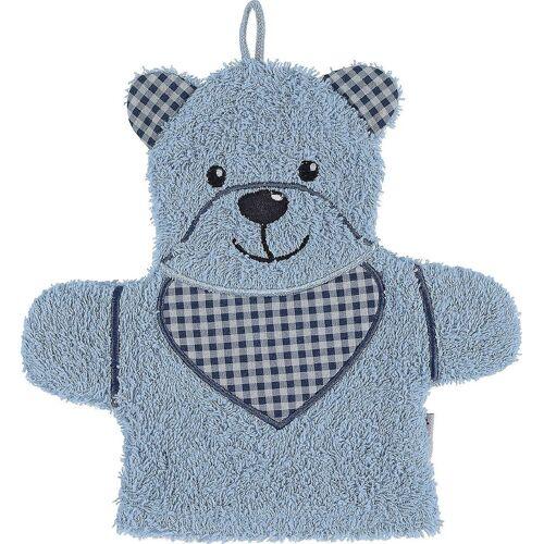 Sterntaler® Waschlappen »Spiel-Waschhandschuh Hanno, grau«, blau