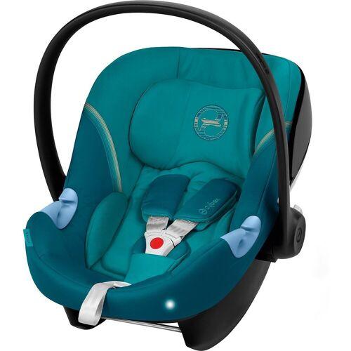 Cybex Babyschale »Babyschale Aton M, Gold-Line, River Blue«, blau