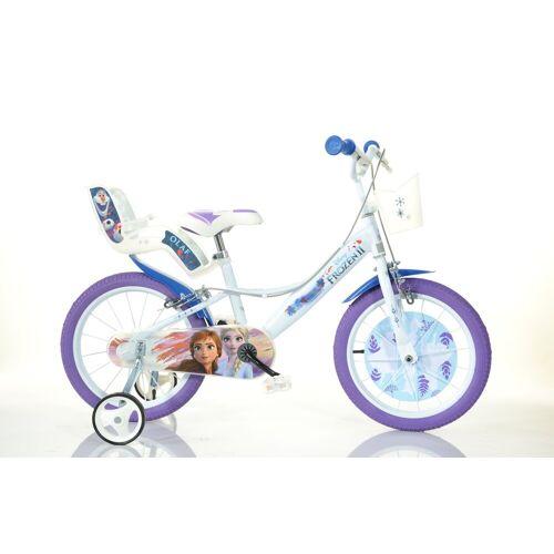 Dino BIkes Kinderfahrrad »14 Zoll Kinderfahrrad Frozen 2 Original Lizenz Kinderrad Fahrrad Frozen 2«, 1 Gang, Keine Schaltung
