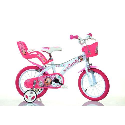 Dino BIkes Kinderfahrrad »14 Zoll Minnie Mouse Kinderfahrrad Kinderrad Fahrrad Spielrad Kinder- Fahrrad«, 1 Gang, Keine Schaltung