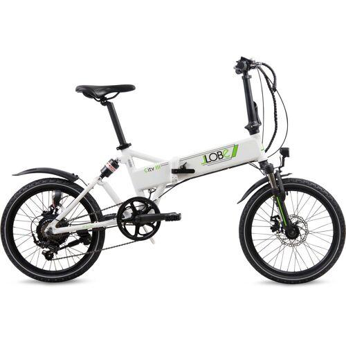 LLobe E-Bike »City III weiß«, 7 Gang Shimano, Kettenschaltung, Heckmotor 250 W