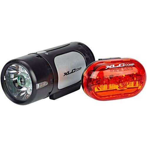 XLC Fahrradbeleuchtung »CL Comp Cupid/Oberon LED Beleuchtungsset«