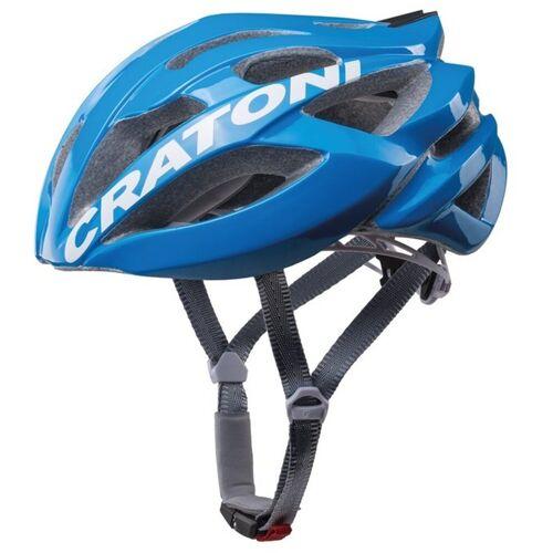 Cratoni Fahrradhelm »Road-Fahrradhelm C-Bolt«, Reflektoren, eingeschäumte Gurtbänder, blau/weiß glanz   blau-weiß