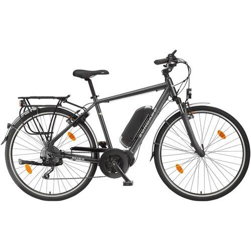 Zündapp ZÜNDAPP E-Bike Trekking »Silver 5.5«, 28 Zoll, 10 Gang, Mittelmotor, 374,4 Wh, grau