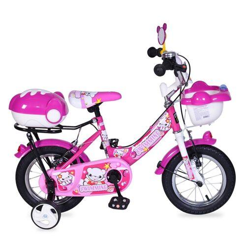 Byox Kinderfahrrad »Kinderfahrrad 12 Zoll 1282«, 1 Gang 1 Gang, keine, rosa mit Stützräder, Fahrradklingel, Korb, ab 3 Jahre