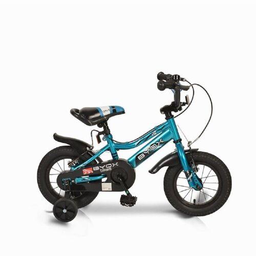 Byox Kinderfahrrad »Kinderfahrrad 12 Zoll Prince«, 1 Gang 1 Gang, keine, blau, Stützräder, Kettenschutz, sportliches Design