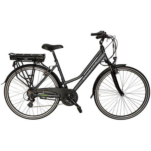 Zündapp ZÜNDAPP E-Bike Trekking »Green 4.5«, 28 Zoll, 21 Gang, Heckmotor, 360 Wh, grau