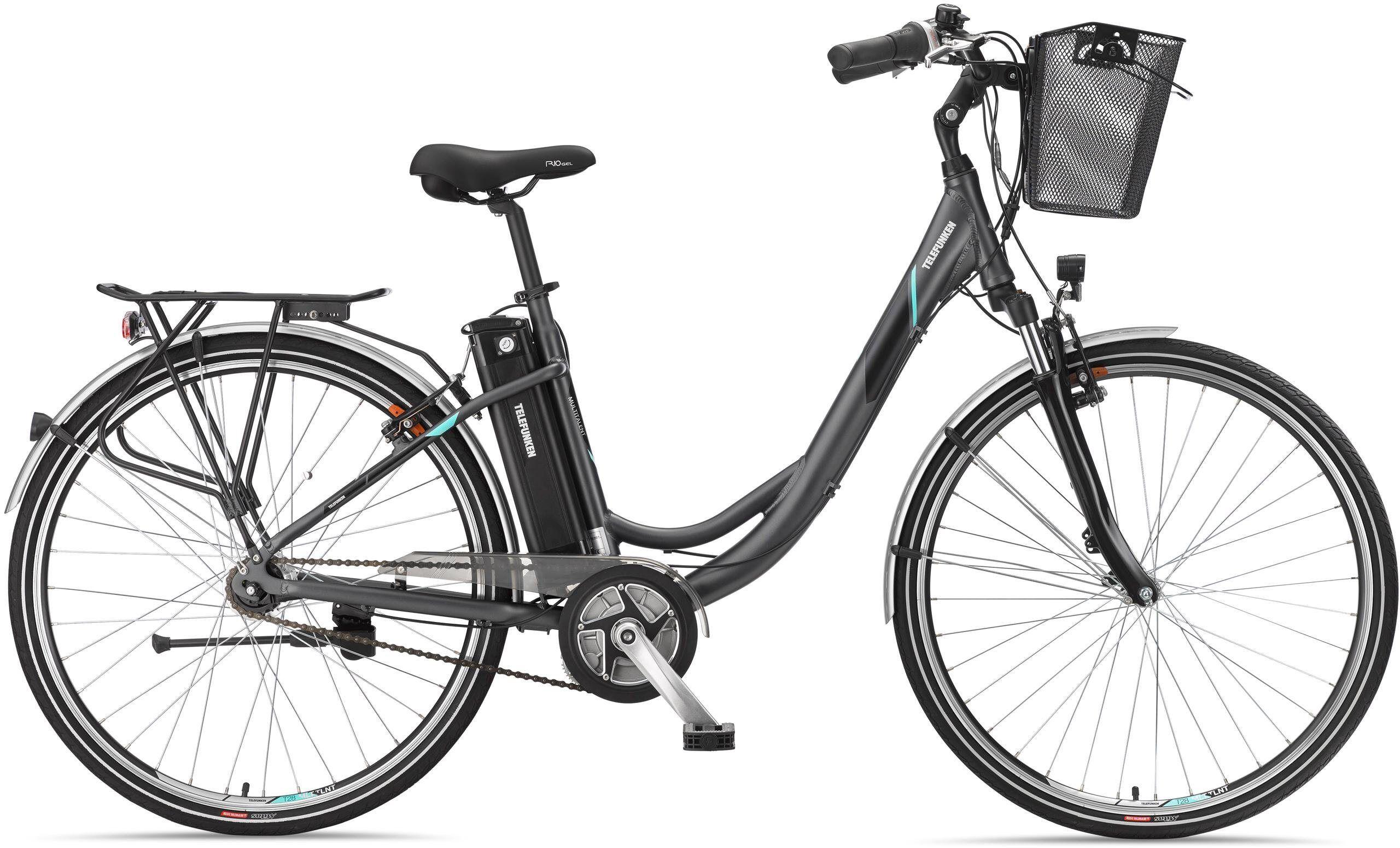 Telefunken E-Bike »RC765 Multitalent«, Shimano Nexus Schaltwerk, Nabenschaltung, Mittelmotor 250 W, anthrazit