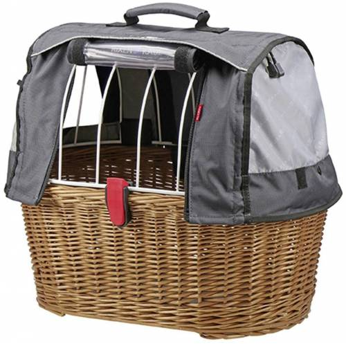 KlickFix Fahrradkorb »Weidenkorb Doggy Basket«