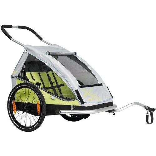 XLC Fahrradkinderanhänger »DUO«, limone