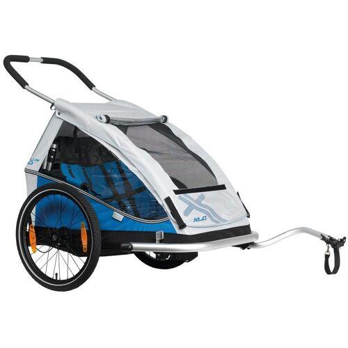 XLC Fahrradkinderanhänger »DUO«, blau