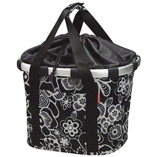 KlickFix Fahrradkorb »Vorderradkorb Bike Basket«, fleur-schwarz