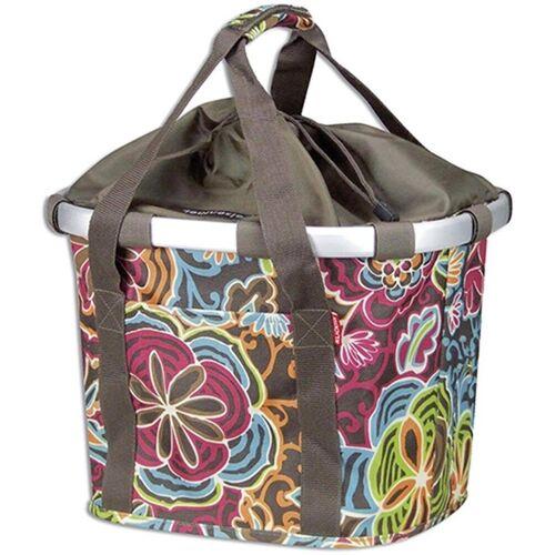 KlickFix Fahrradkorb »Vorderradkorb Bike Basket«, flora braun
