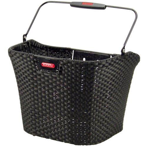 KlickFix Fahrradkorb »Vorderradkorb Structura«, schwarz