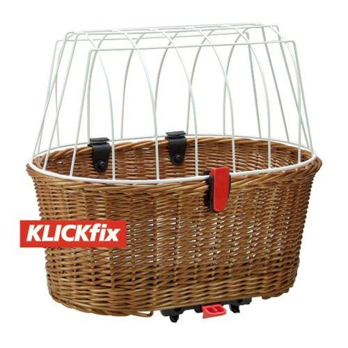 KlickFix Fahrradkorb »Hundekorb für Racktime«