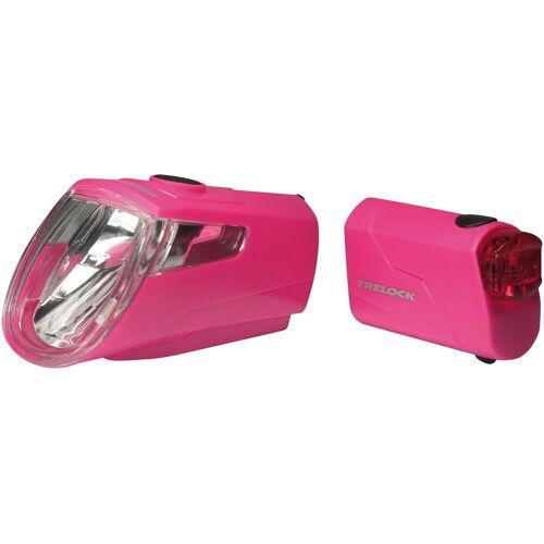 Trelock Fahrradbeleuchtung »LS 360 I-GO ECO«, pink