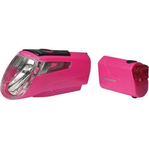 Trelock Fahrradbeleuchtung »LS 460 I-GO POWER«, pink
