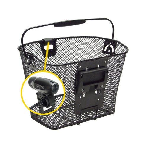 KlickFix Fahrradkorb »Uni Korb mit Lampenhalter«