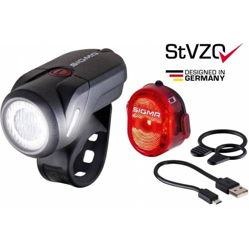 Sigma SPORT Fahrradbeleuchtung »AURA 35 USB / NUGGET II K-Set«