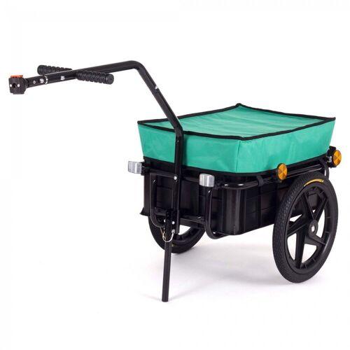 SAMAX Fahrradlastenanhänger »Lastenanhänger / Fahrradanhänger für 60 Kg / 70 Liter in Grün«
