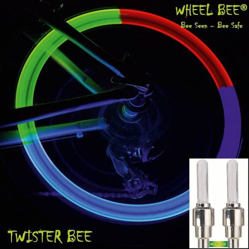 Wheel-Bee Fahrradkindersitz »LED Ventilkappen, bunt«