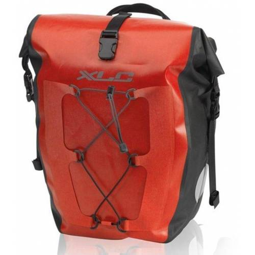 XLC Gepäckträgertasche »Einzeltaschenset BA-W38« (2-tlg., 2er-Pack), rot
