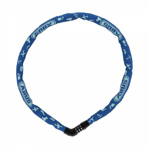 ABUS Kettenschloss »Kettenschloss Symbols blau / Länge 75 cm«, blau